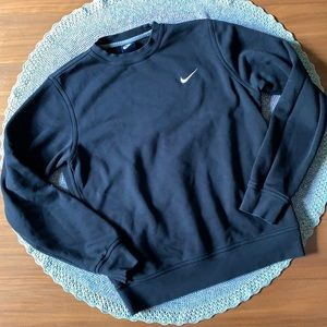 Nike Black Swoosh Crew Neck Sweat Shirt Medium